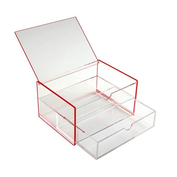Černý úložný box Versa Ariel, 17,1x13x9,2cm