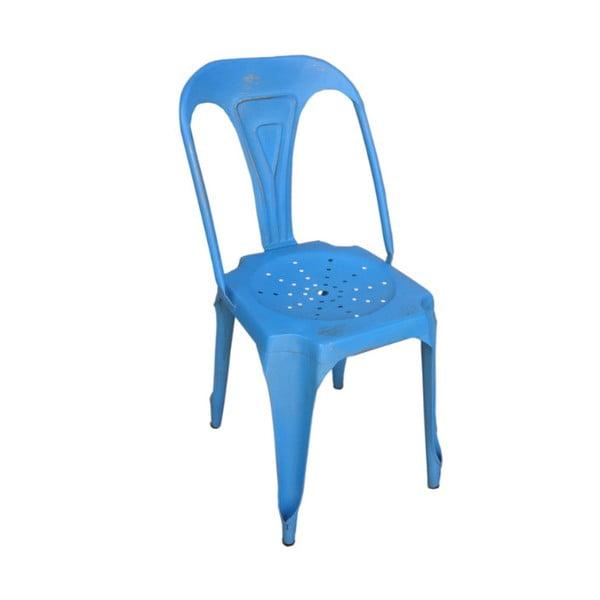 Kovová židle Chaise Bleu