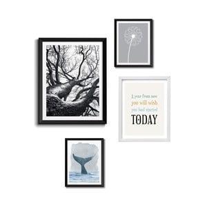 Set 4 tablouri Tomasucci Wildlife