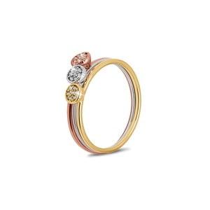 Sada 3 prstenů s krystaly Swarovski® GemSeller, velikost 52
