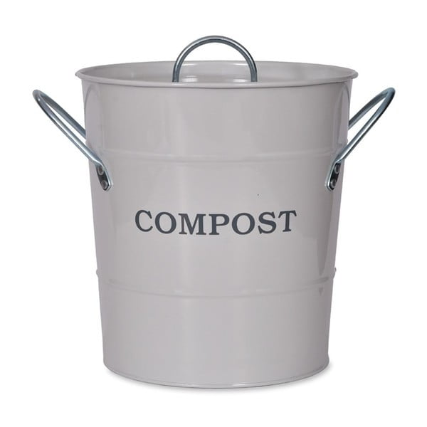 Světle šedý kompostér s víkem Garden Trading Compost, 3,5l