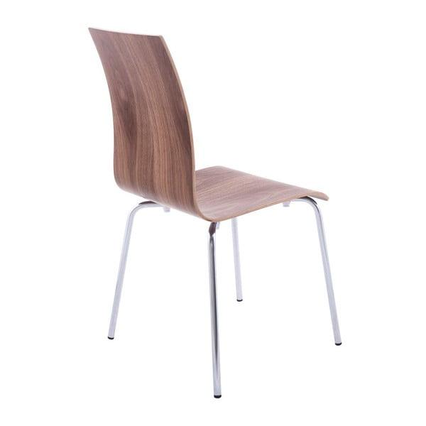 Jídelní židle se sedákem v dekoru ořechového dřeva Kokoon Classic