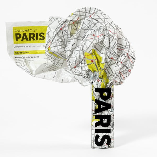 Zgnieciona mapa Palomar Paryż