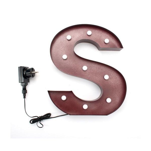 Světelná LED dekorace Letter S