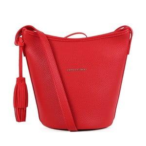 Červená kabelka z koženky Laura Ashley Loxford