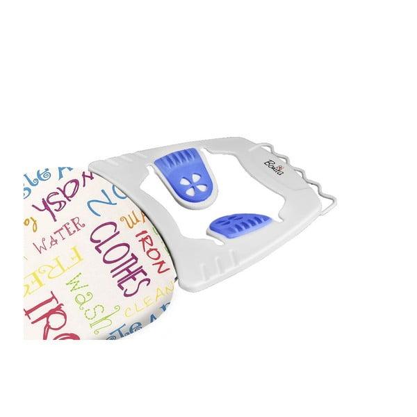 Žehlicí prkno s modrými protiskluzovými nožkami Domopak Joy Words