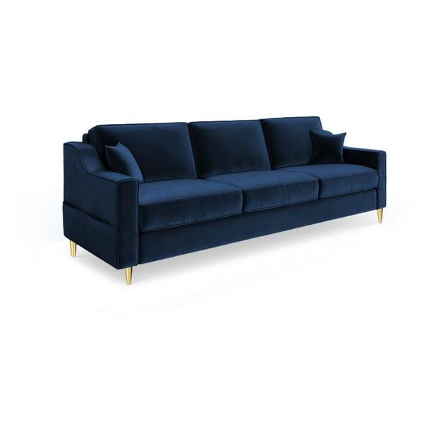 Ciemnoniebieska 3-osobowa sofa rozkładana Mazzini Sofas Marigold