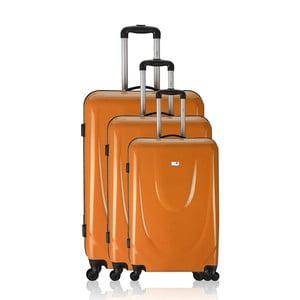 Sada 3 cestovních zavazadel Valises Orange