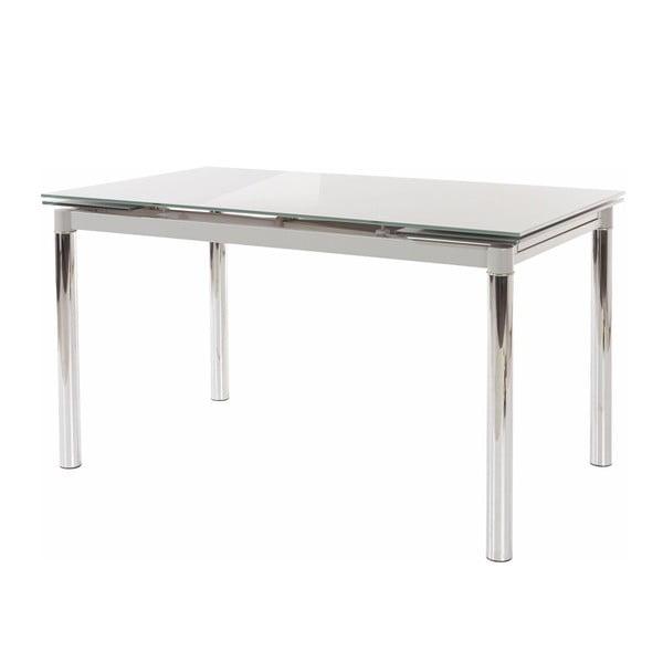 Šedý jídelní stůl se skleněnou deskou Støraa Pippa
