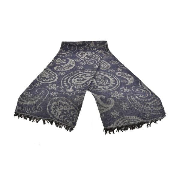 Tmavosivý dámsky šál s prímesou bavlny Dolce Bonita Otantic, 170 × 90 cm