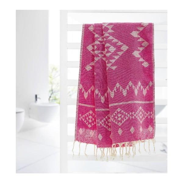 Hammam osuška Carpet, fuchsiová