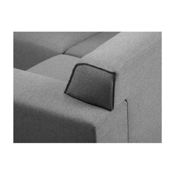 Šedá rohová čtyřmístná pohovka Cosmopolitan Design Seville, levý roh