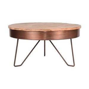 Odkládací stolek vměděné barvě sdeskou zmangového dřeva LABEL51 Saran, ⌀80cm