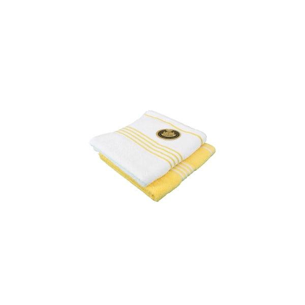 Sada 2 osušek Rio Yellow/White, 70x140 cm