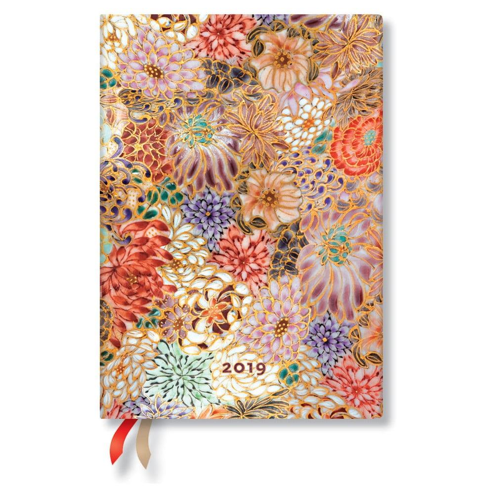 Diář na rok 2019 Paperblanks Kikka Horizontal, 13 x 18 cm