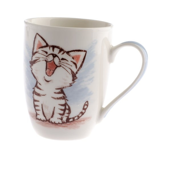 Happy Cat porcelán bögre, 345 ml - Dakls