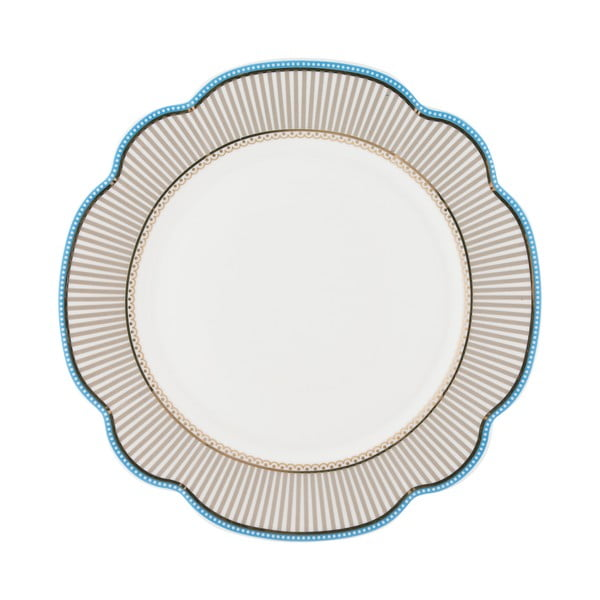 Porcelánový talíř Beach od Lisbeth Dahl, 24 cm, 4 ks