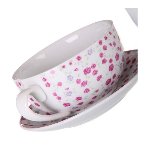 Set ceainic și ceașcă cu farfurie Unimasa Roses