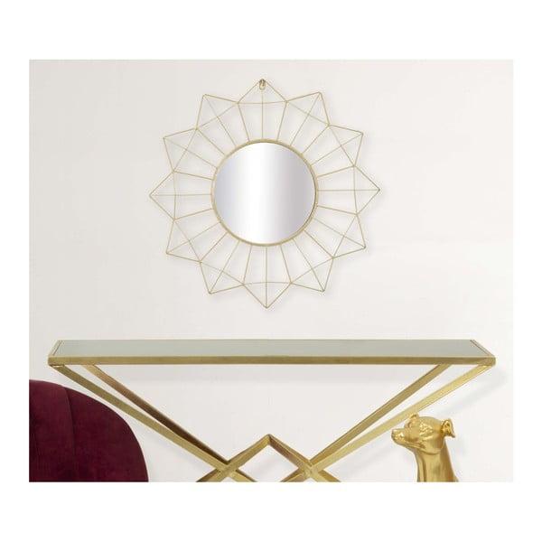 Nástěnné zrcadlo ve zlaté barvě Mauro Ferretti Soleado, ⌀60cm