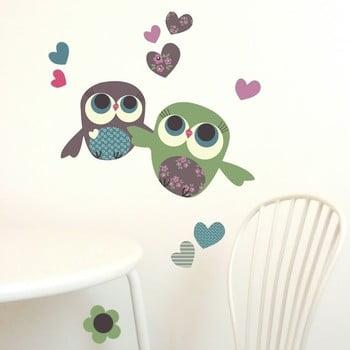 Autocolant refolosibil Owls Mini 30x21 cm