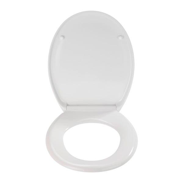 Bílé WC sedátko se snadným zavíráním Wenko Premium Ottana, 45,2 x 37,6 cm