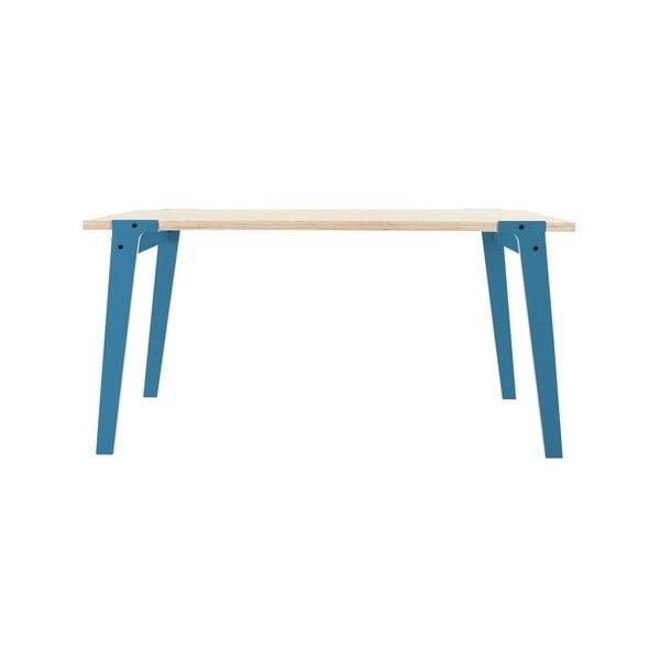 Modrý jídelní/pracovní stůl rform Switch, deska 150x75 cm