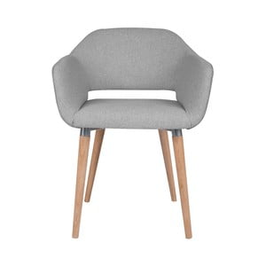 Světle šedá jídelní židle Cosmopolitan Design Napoli