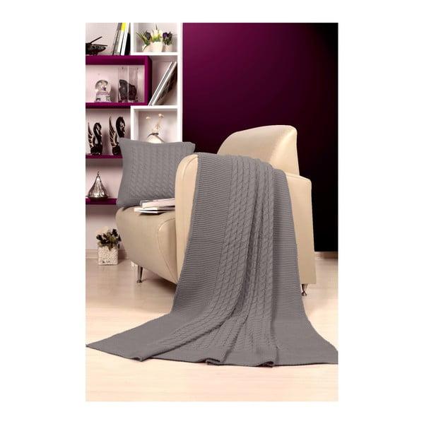 Set pătură și pernă Kate Louise Tricot Sultan, gri