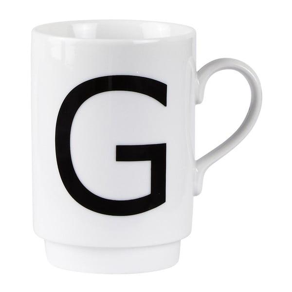 Porcelánový písmenkový hrnek G