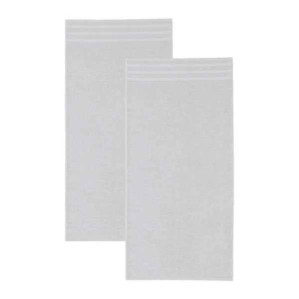 Set šedých osušek, 50x100 cm, 2 ks