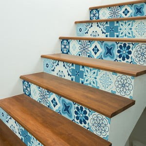 Sada 2 samolepek na schody Ambiance Evoleo, 15 x 105 cm