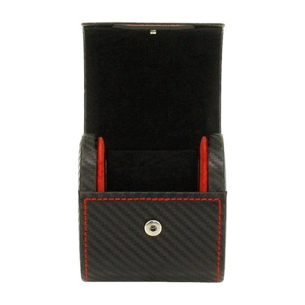 Černý box na jedny hodinky Friedrich Lederwaren Carbon