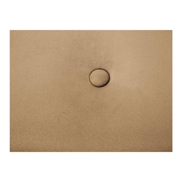 Světle hnědý puf Mazzini Sofas Fiore, ⌀ 40 cm