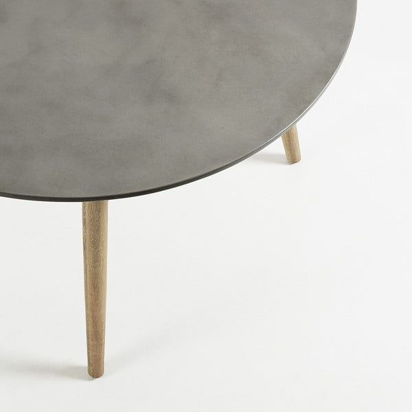 Jídelní stůl se světle šedou deskou La Forma Tropo,Ø120cm