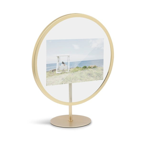 Volně stojící rám ve zlaté barvě na fotografii o rozměru 10 x 15 cm Umbra Infinity
