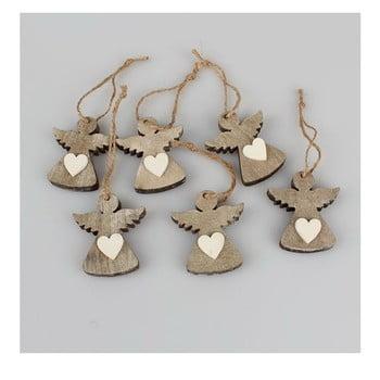 Set 6 decorațiuni suspendate Crăciun în formă de înger Dakls Edmund imagine