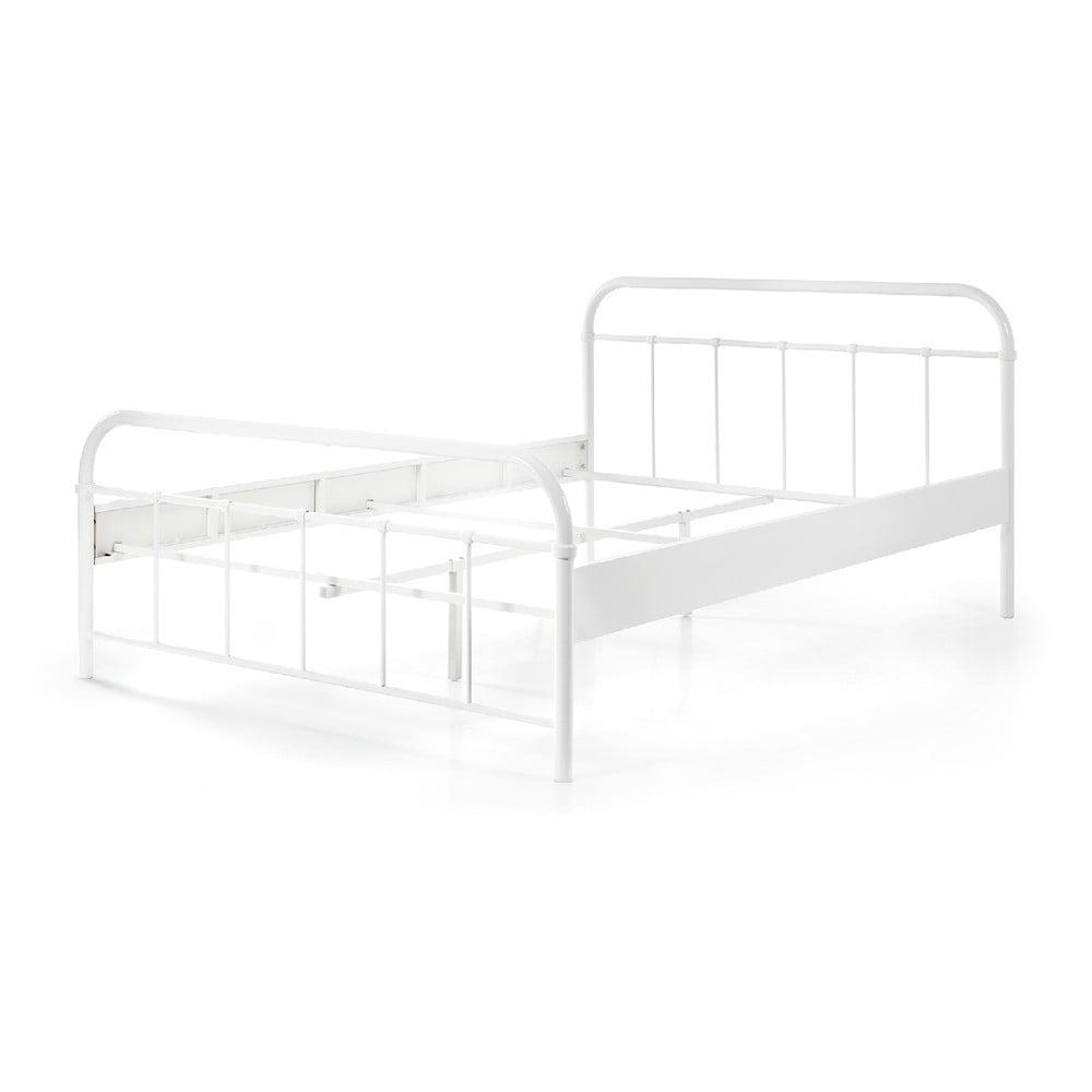 Bílá kovová dětská postel Vipack Boston Baby, 140 x 200 cm