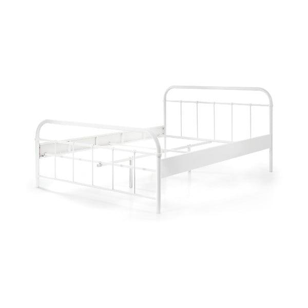 Białe metalowe łóżko dziecięce Vipack Boston Baby, 140x200 cm