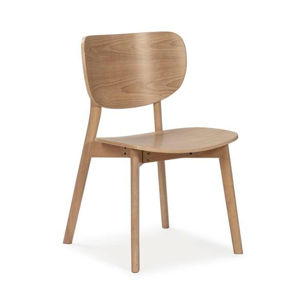Přírodní dřevěná jídelní židle Marckeric Azara