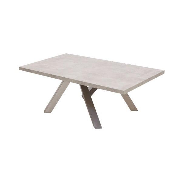 Šedý konferenční stolek Canett Granitz