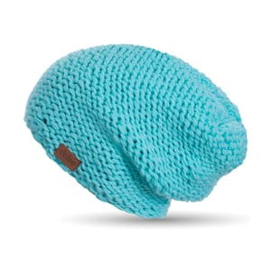 Tyrkysově modrá ručně pletená čepice DOKE Mint