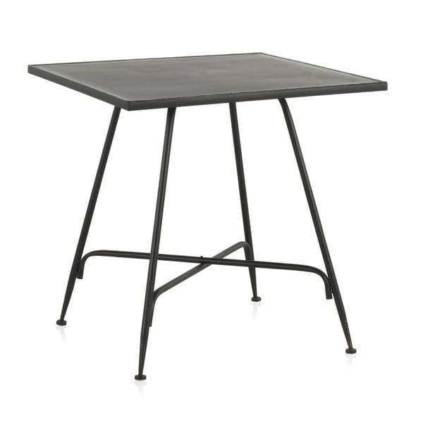 Masă de bar din metal Geese Industrial Style, 80 x 80 cm, negru