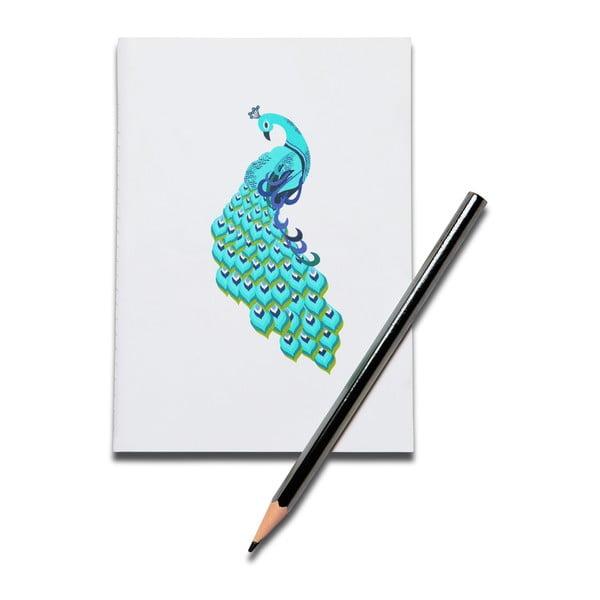 Zápisník Kuheli Peacock Dance, A6