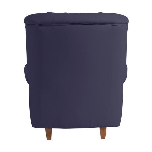Tmavě modré křeslo Max Winzer Recliner Vicky Leather Dark Blue
