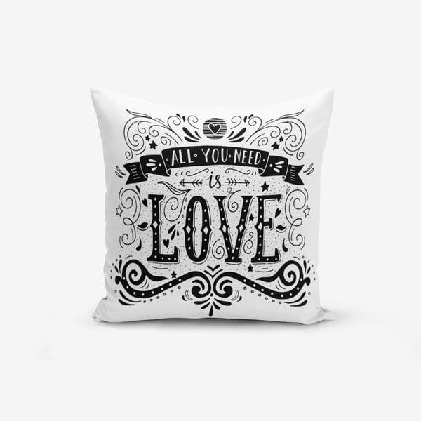 Poszewka na poduszkę z domieszką bawełny Minimalist Cushion Covers Hearth, 45x45 cm