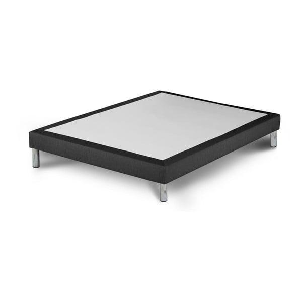 Ciemnoszare łóżko kontynentalne Stella Cadente Maison, 140x200 cm