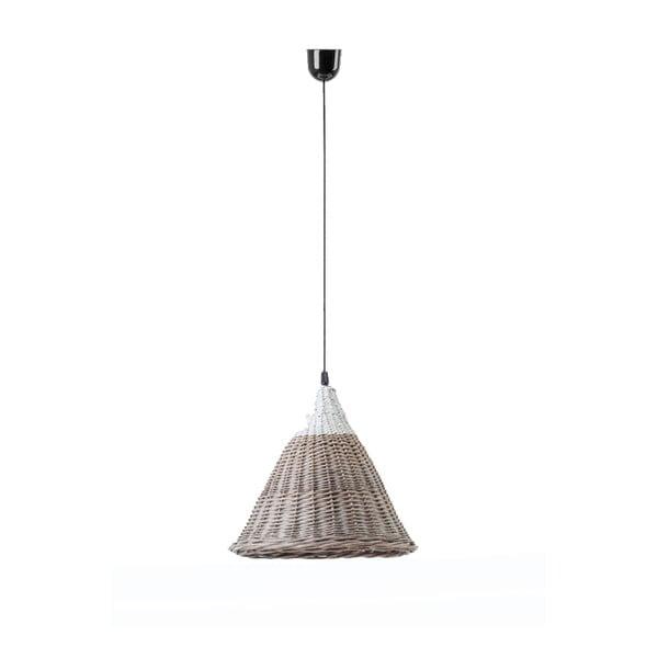 Stropní světlo Kapi, 27x24 cm, hnědobílé