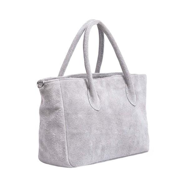 Kožená kabelka Carmina, šedá