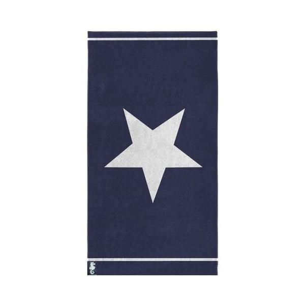 Modrá osuška Seahorse Star, 100×180cm
