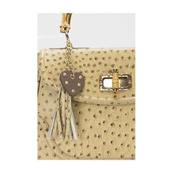 Kožená kabelka Giorgio Costa 15017 Taupe